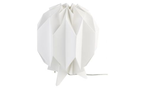 Lampe de table 28cm en papier blanc
