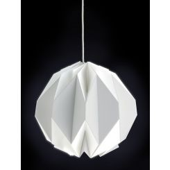 Suspension en papier blanc, diamètre 40cm