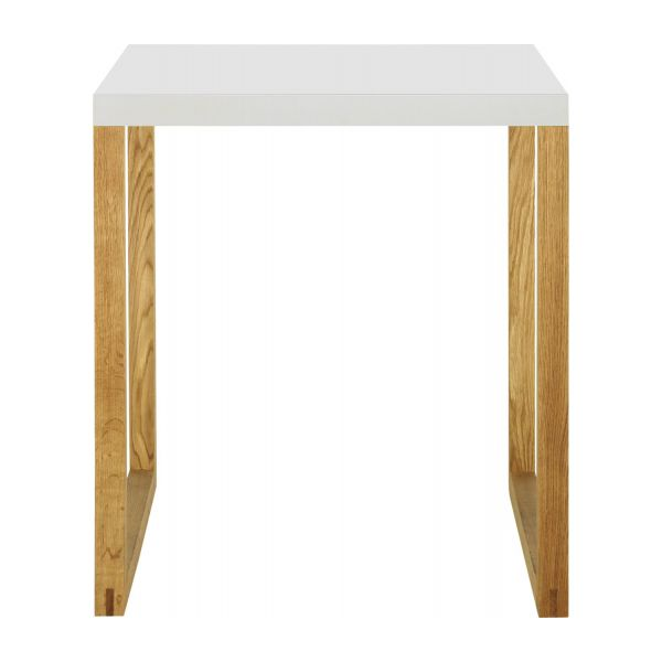 kilo tables de salle manger blanc bois m tal habitat. Black Bedroom Furniture Sets. Home Design Ideas
