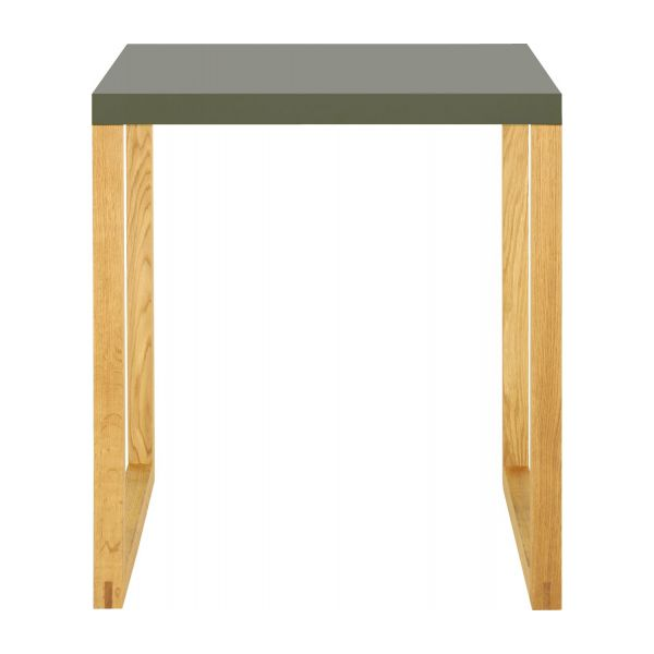 solid oak and metal dining room table n°2