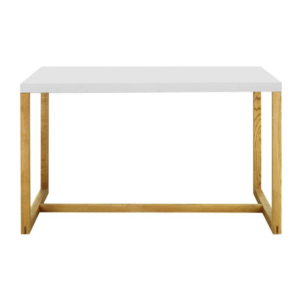 rectangular table made of metal and solid oak n°2