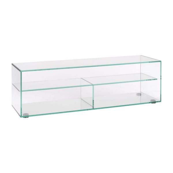 Gem meubles audio vid o transparent verre habitat for Petit meuble audio
