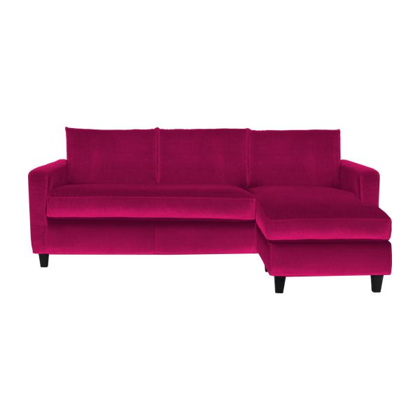 chester canap s canap d 39 angle fuchsia velours habitat. Black Bedroom Furniture Sets. Home Design Ideas