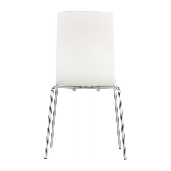 verdi chaises de salle manger blanc m tal plastique. Black Bedroom Furniture Sets. Home Design Ideas