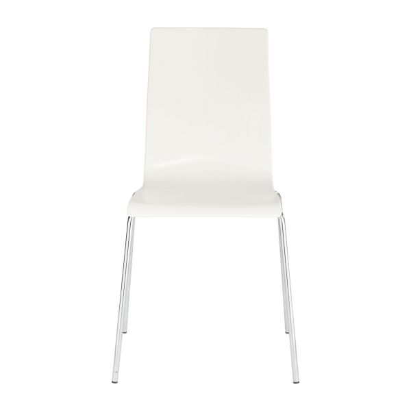 verdi chaises de salle manger blanc m tal plastique habitat. Black Bedroom Furniture Sets. Home Design Ideas