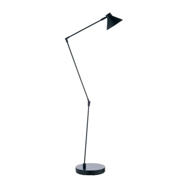 Bobby standard lamp black metal habitat lacquered steel floor lamp aloadofball Image collections