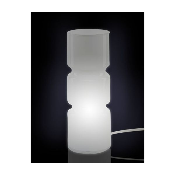 Fitz Table Lamps White Glass Habitat