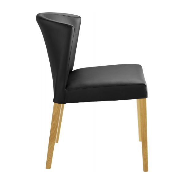 Valentina dining room chairs black wood habitat for Chaise de salle a manger alinea