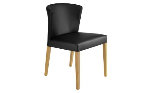 VALENTINA Dining Room Chairs Charcoal Fabric Wood