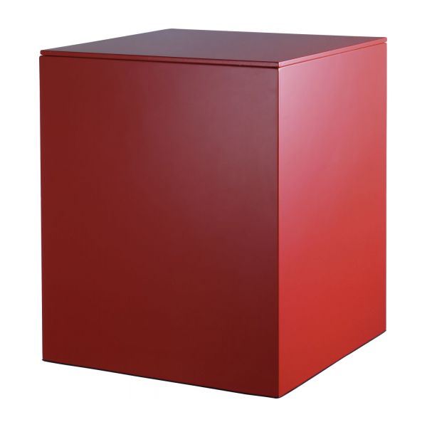 Mond bo tes rouge bois m tal laqu habitat for Boites de rangement decoratives
