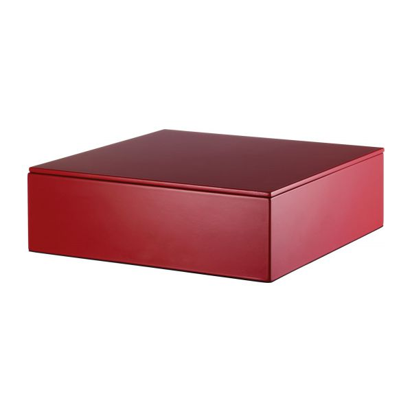 Mond rangements rouge m tal laqu habitat for Boites de rangement decoratives