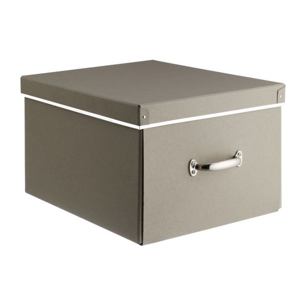 Kraft bo tes taupe carton habitat for Boites de rangement decoratives