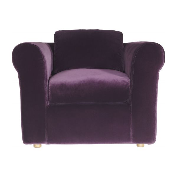 louis fauteuils fauteuil aubergine velours habitat. Black Bedroom Furniture Sets. Home Design Ideas