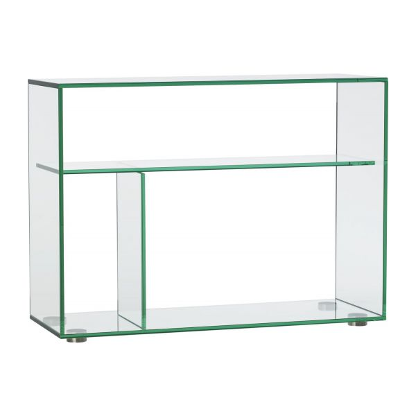 gem tables d 39 appoint transparent verre m tal habitat. Black Bedroom Furniture Sets. Home Design Ideas