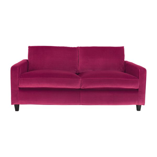 chester canap s canap 2 places fuchsia velours habitat. Black Bedroom Furniture Sets. Home Design Ideas