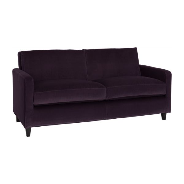 chester canap s canap 2 places aubergine velours habitat. Black Bedroom Furniture Sets. Home Design Ideas