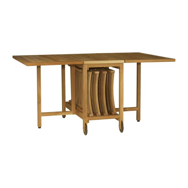 Zeno conjunto mesa plegable y 4 sillas habitat for Mesa de playa plegable