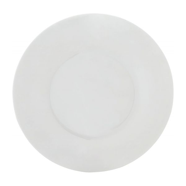 lux assiettes plates blanc porcelaine habitat. Black Bedroom Furniture Sets. Home Design Ideas