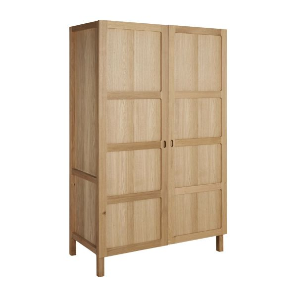 2 door oak wardrobe n°1
