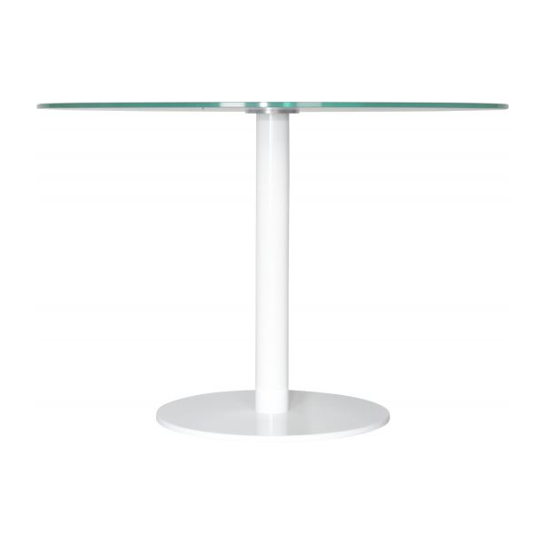 Umi table de salle manger en verre tremp habitat for Table salle manger habitat