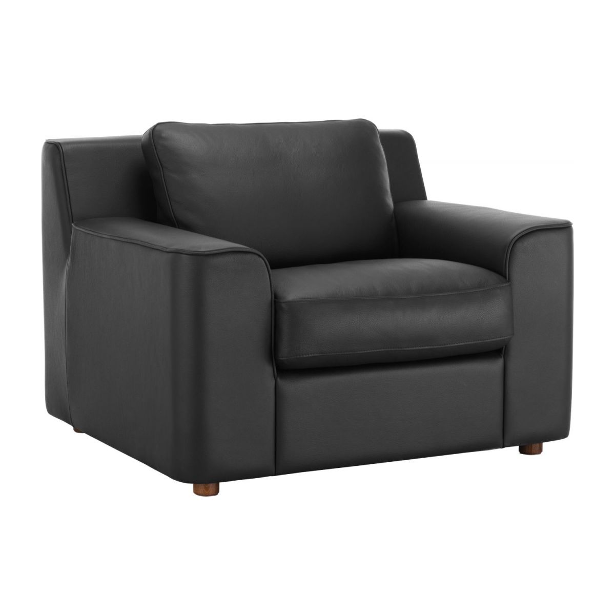 finn fauteuils fauteuil noir cuir habitat. Black Bedroom Furniture Sets. Home Design Ideas