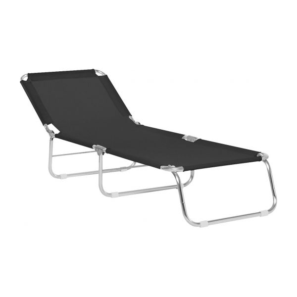 Teva chaise longue pliante habitat for Chaise longue aluminium pliante