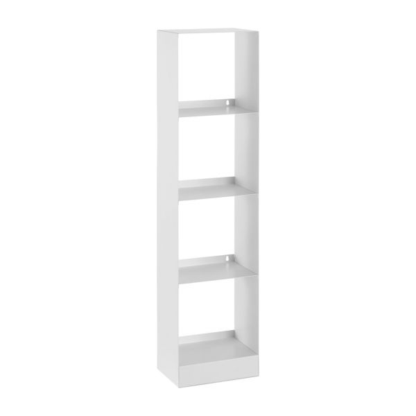Allegro range cd et dvd blanc m tal habitat for Meuble porte dvd