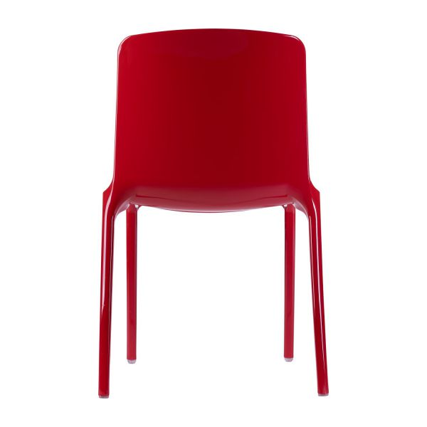 tallow chaises de salle manger rouge plastique habitat. Black Bedroom Furniture Sets. Home Design Ideas