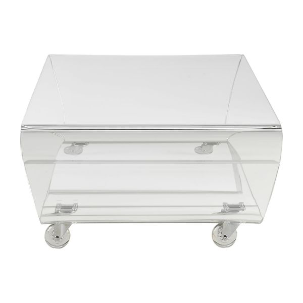 allegro coffee tables transparent acrylic habitat. Black Bedroom Furniture Sets. Home Design Ideas