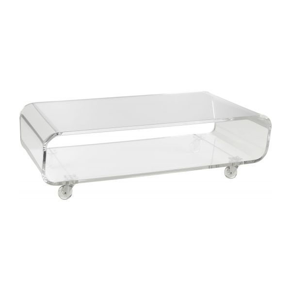 Allegro coffee tables transparent acrylic habitat for Habitat table basse