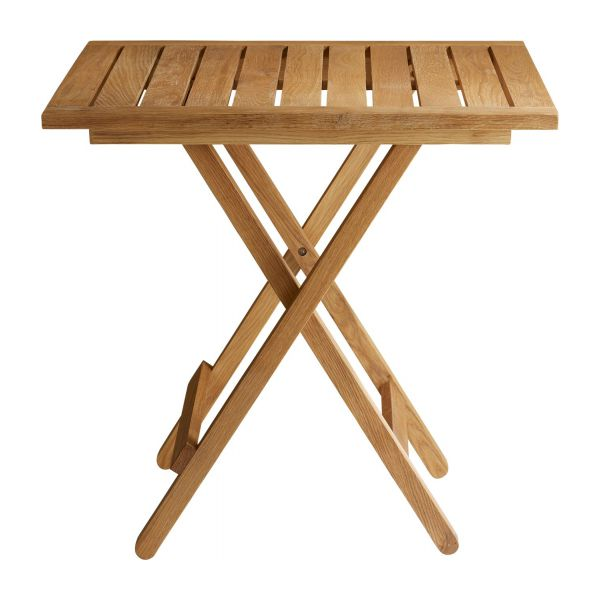 oiled solid oak folding table n°4