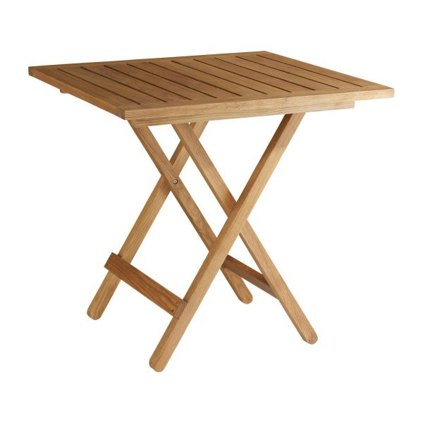 oiled solid oak folding table n°1