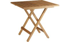 oiled solid oak folding table
