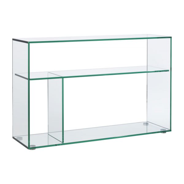 gem consoles transparent verre m tal habitat. Black Bedroom Furniture Sets. Home Design Ideas