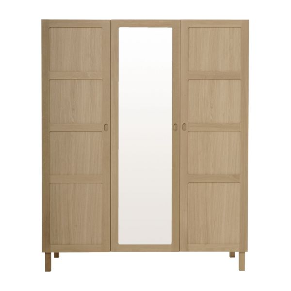 3 door oak wardrobe