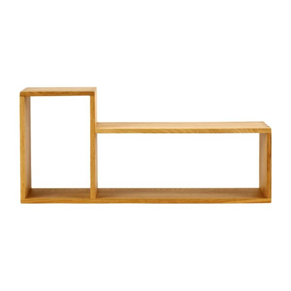 LECCO CD and DVD rack Natural Wood - Habitat