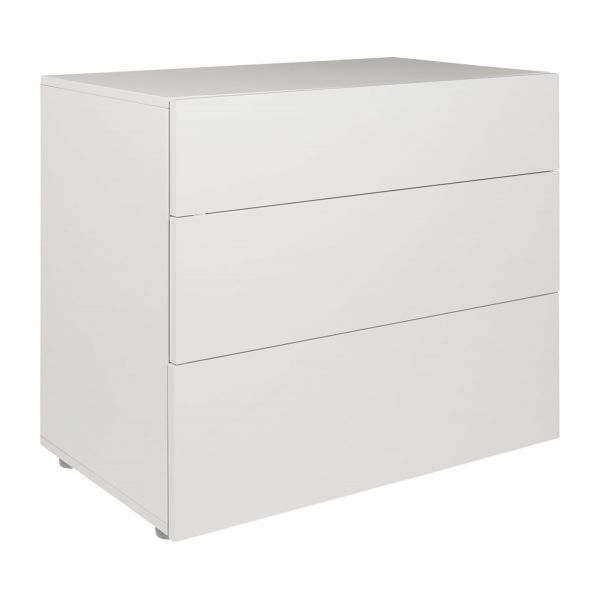 Perouse commode laqu e habitat - Grande commode blanche ...