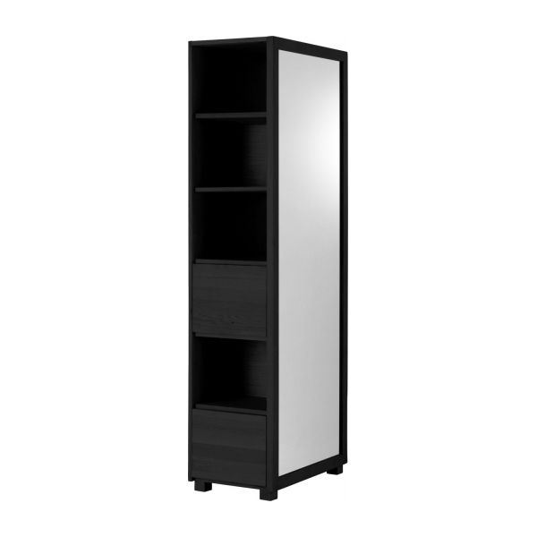 hana miroir sur pied avec rangement habitat. Black Bedroom Furniture Sets. Home Design Ideas