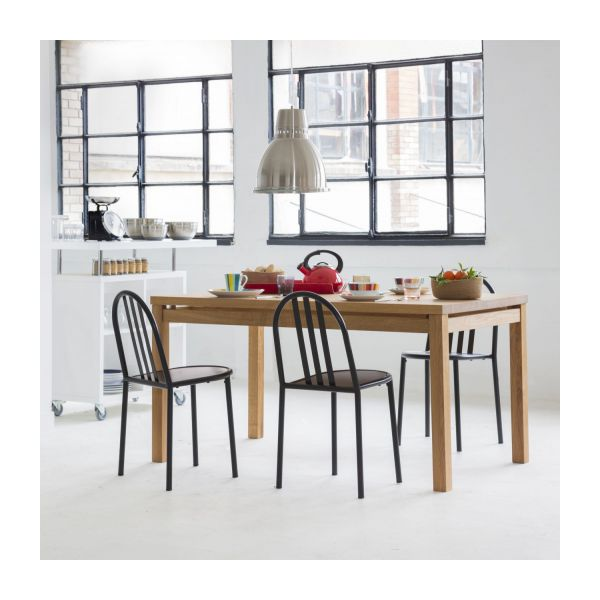 Massello tables de salle manger naturel bois habitat for Grande table de salle a manger