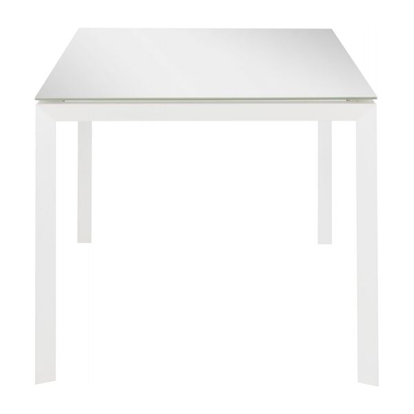 Rio tables de salle manger blanc verre m tal habitat for Table verre rallonge