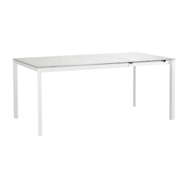 Rio tables de salle manger blanc verre m tal habitat for Table italienne en verre