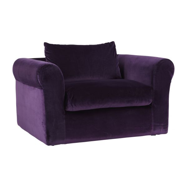 louis canap s canap compact aubergine velours habitat. Black Bedroom Furniture Sets. Home Design Ideas