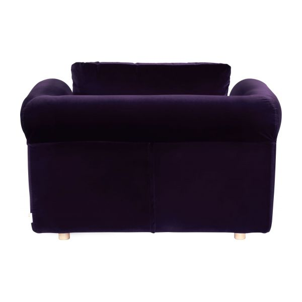 louis canap s canap compact convertible aubergine velours habitat. Black Bedroom Furniture Sets. Home Design Ideas