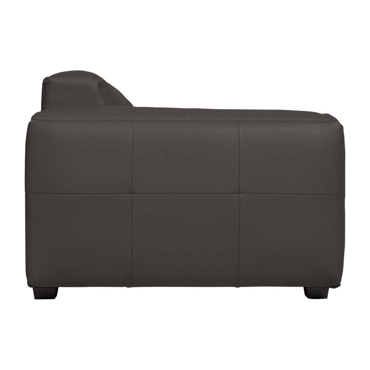 3 seater sofa in Savoy semi-aniline leather, dark brown amaretto n°6