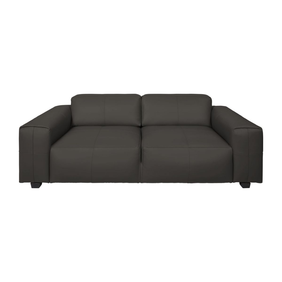 3 seater sofa in Savoy semi-aniline leather, dark brown amaretto n°2