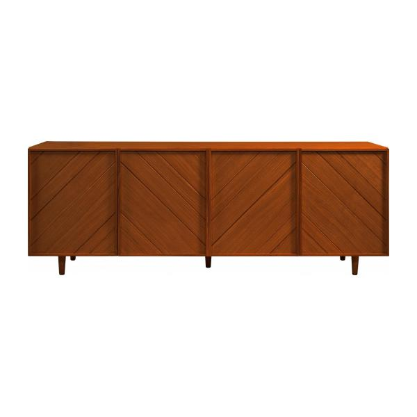 4 doors walnut buffet - Design by Héléna Pille n°3
