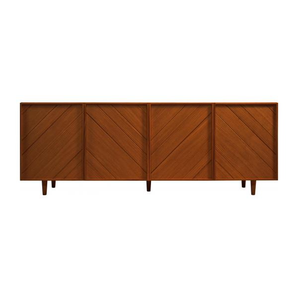 4 doors walnut buffet - Design by Héléna Pille n°4