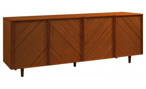 4 doors walnut buffet - Design by Héléna Pille