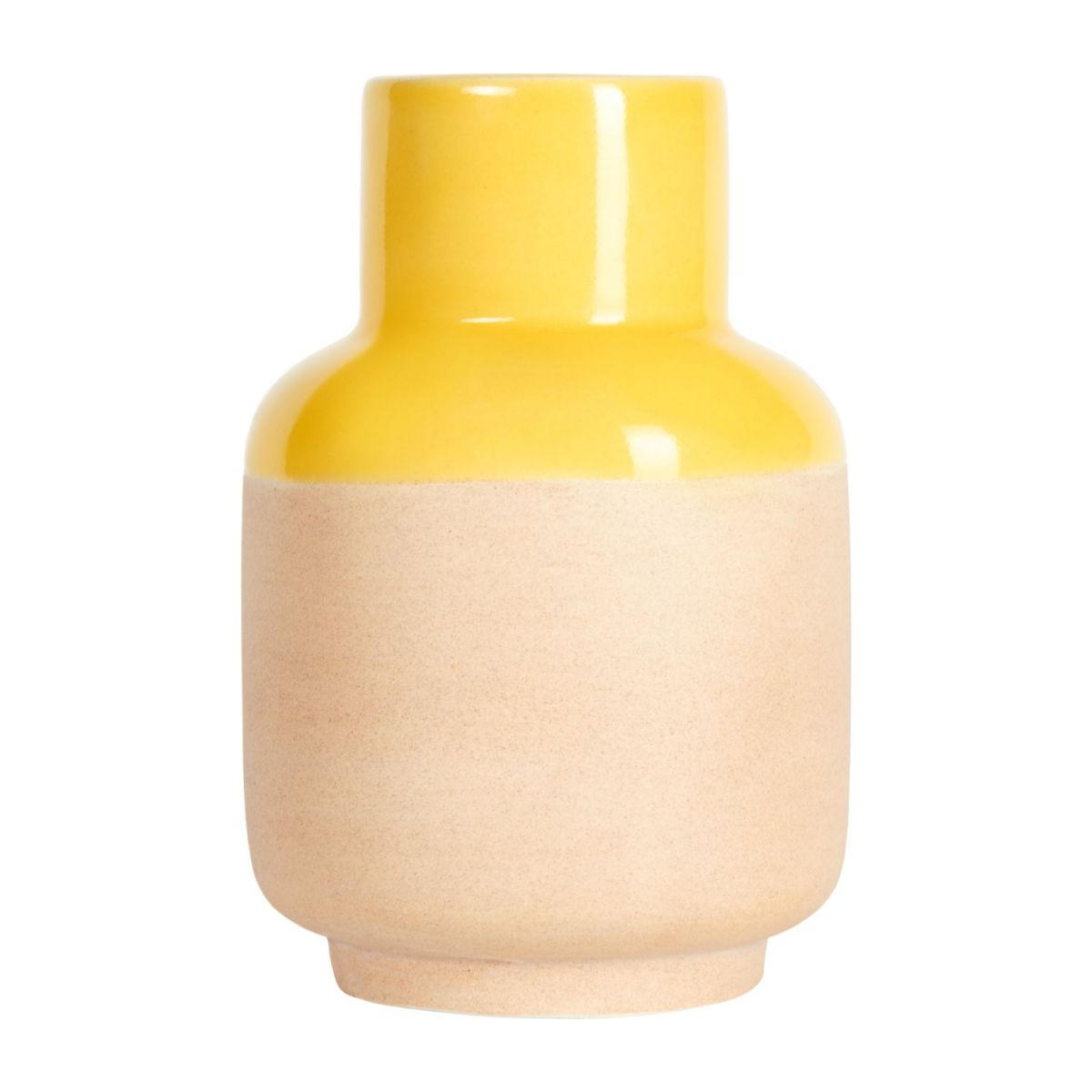 Vase made of earthenware 14cm, yellow n°2