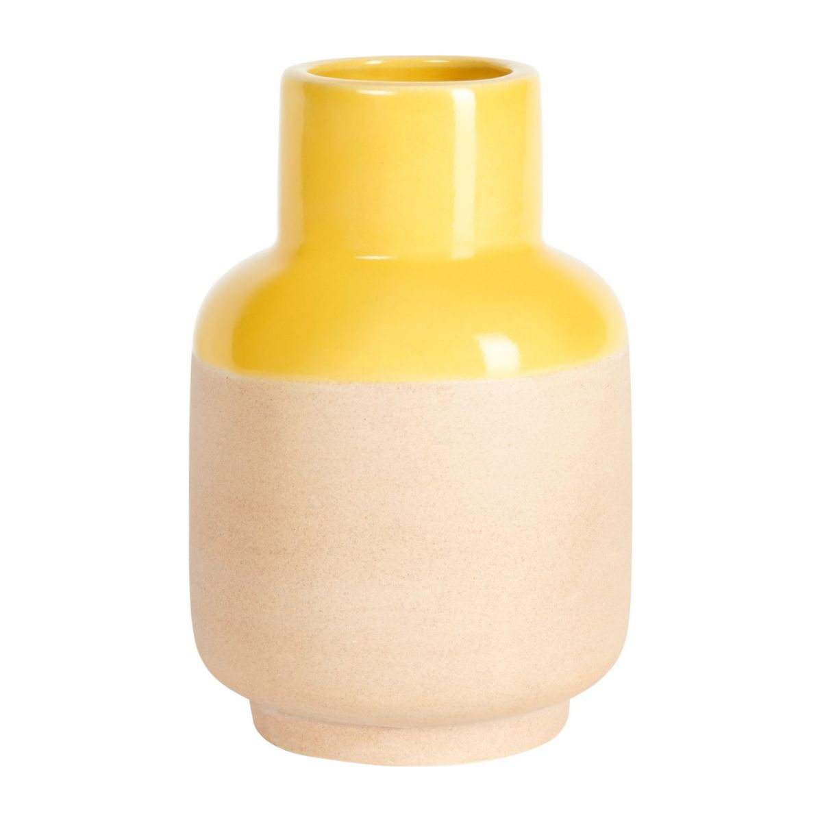 Vase made of earthenware 14cm, yellow n°1